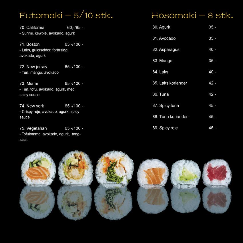 futomaki hosomaki sushi