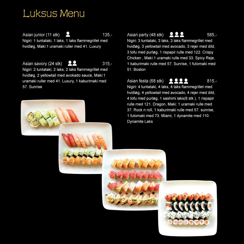Kinesisk restaurant med sushi